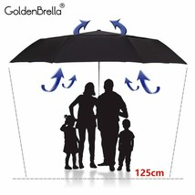 GoldenBrella® Strong Quality Umbrella For Men Large Wind Resistance Double - $35.35