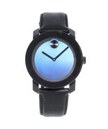 Movado Bold Steel Plastic Blue Metallic Dial Quartz Mens Watch 3600481 - $328.45 CAD