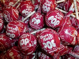 Tootsie Pops Red Raspberry 30 Red Raspberry Tootsie pop lollipop bulk candy - £7.25 GBP