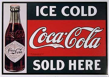 1914 Coke Sign Reproduction