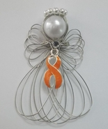 Leukemia Awareness Orange Ribbon Angel Ornament - $8.00