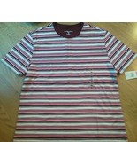 Ladies Karen Scott Sport Shirt Top Red Wh Brown... - $14.84