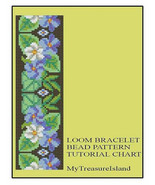 Bead Loom Floral Border 2 Bracelet Pattern PDF - $5.00