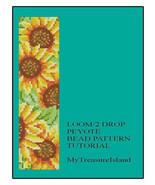 Sunflowers Bracelet Loom or 2 Drop Peyote Pattern PDF - $5.00