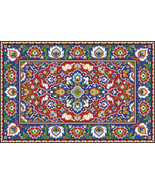Oriental Vintage Floral Rug 1 Adaptation Counted Cross Stitch Pattern PDF - $10.00
