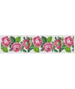 Berlin Woolwork Floral Rose Border Panel Design Cross Stitch PDF Pattern - $5.50