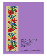 Bead Loom Floral Border 3 Bracelet Pattern PDF - $5.50