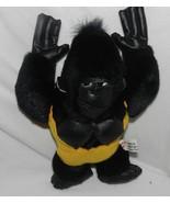 """Sugar Loaf Black Vinyl Plush Gorilla 10"""" Vintage 1988 - $10.99"""