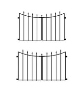 2 Pack Black Steel Decorative Fence Gate 28 in. Durable Rust Resistance New - $75.95