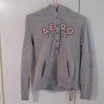 Women's/Juniors Aeropostale 1987 Gray Hooded Sweatshirt Sz L - $12.99