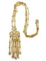 1970s Monet Runway Couture Pendant Fringe Necklace - €135,38 EUR