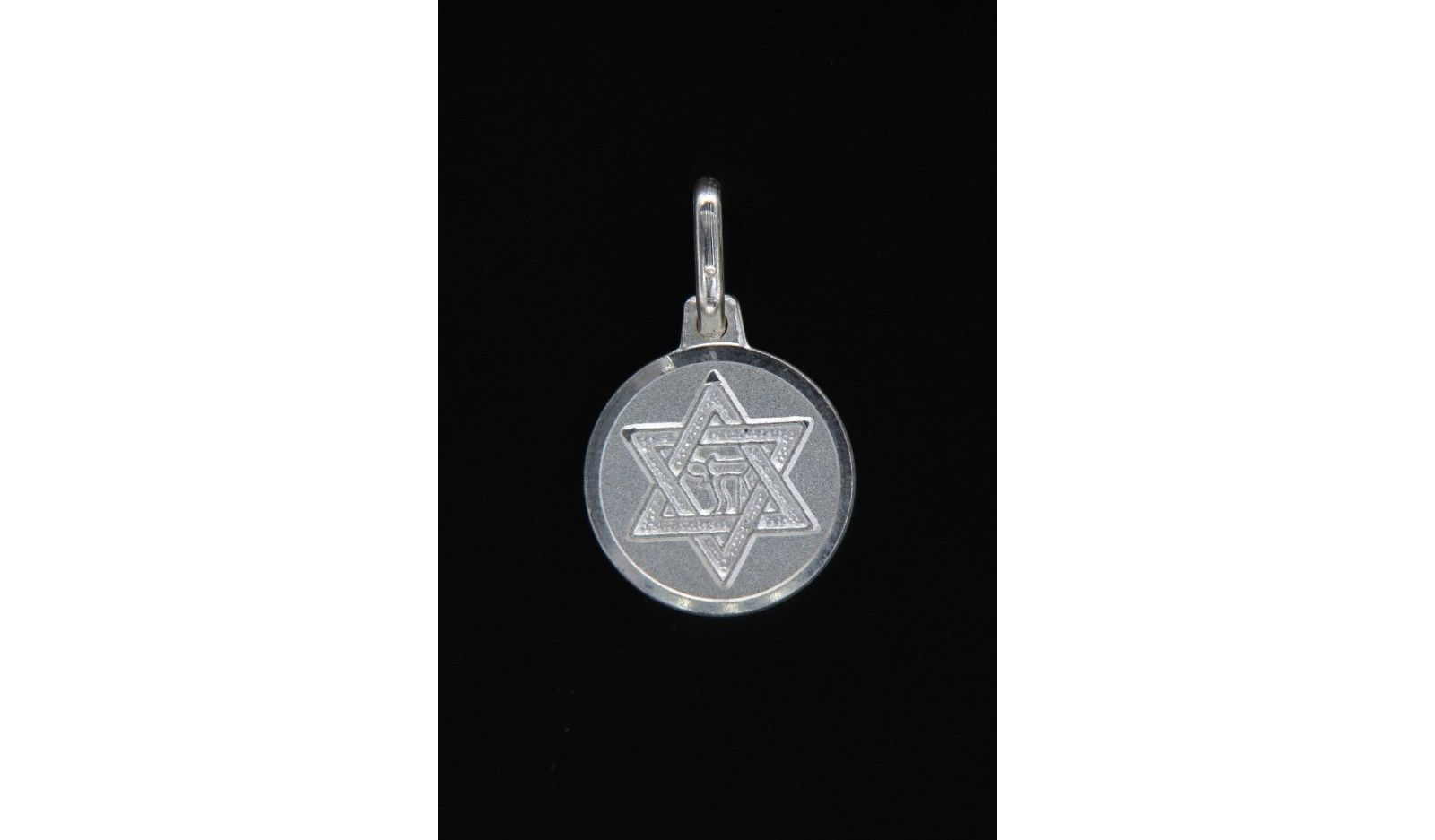 Beautiful Unisex Pure 18K White Gold Finish Star of David Pendant with 18