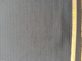 By The Yard Super 120'S Blue Grey  English Wool Suiting Fabric Top Quality! - $7.18
