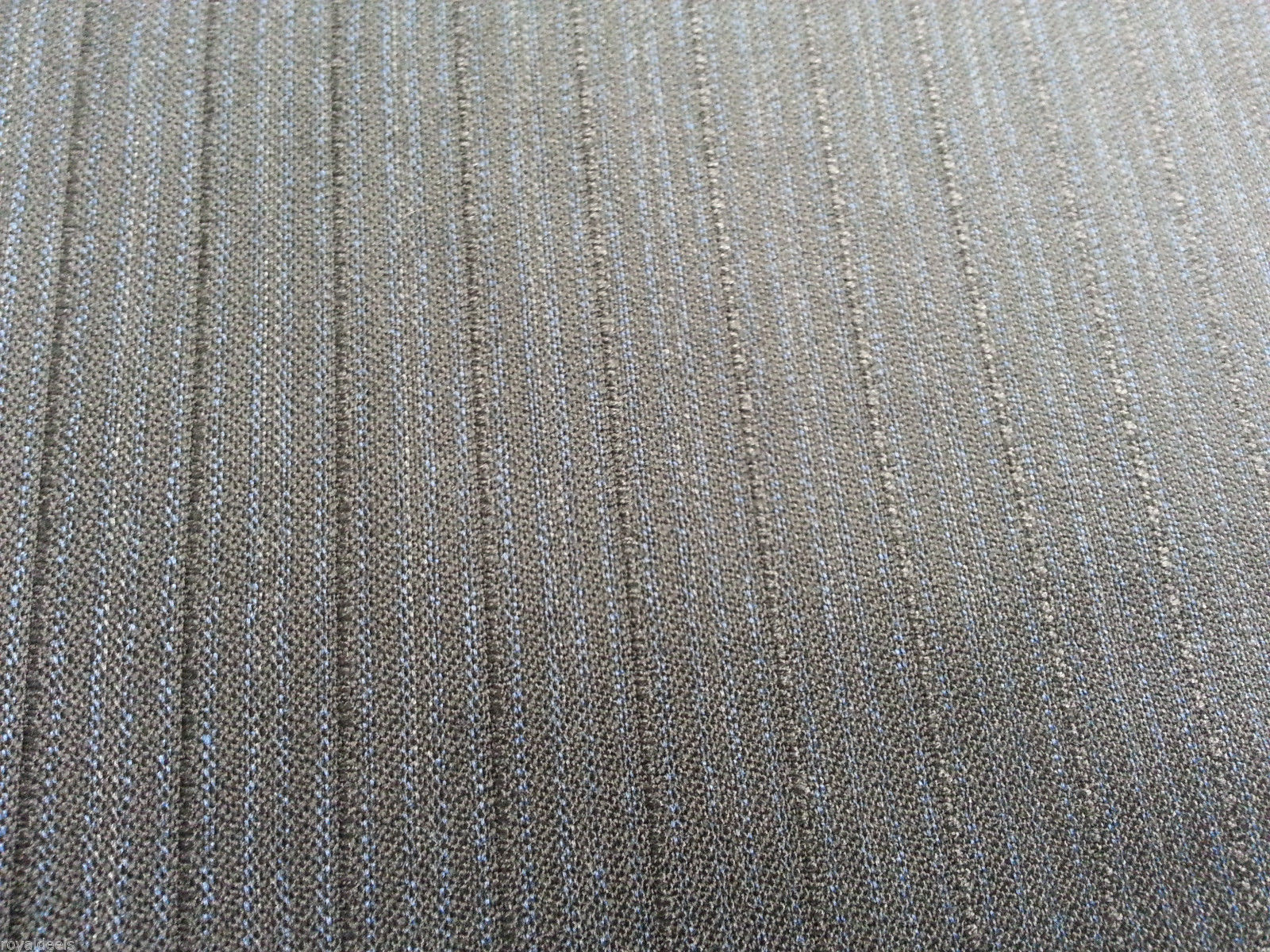 By The Yard Super 120'S Blue Grey  English Wool Suiting Fabric Top Quality!
