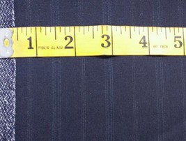 4 Yards Super130'S Italian Fine Lighweight Wool Blue Suiting Fabric MSRP... - $59.39
