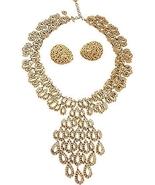 Monet Openwork Huge Runway Couture Necklace & E... - $300.00
