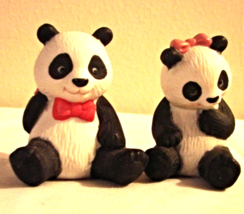 1990 Avon Porcelain Panda Bears - $13.00