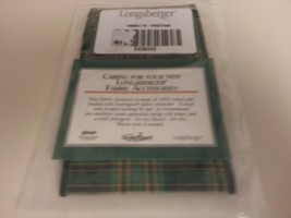 Longaberger Traditions Green Fabric Large Basket Handle Tie Only New - $14.80