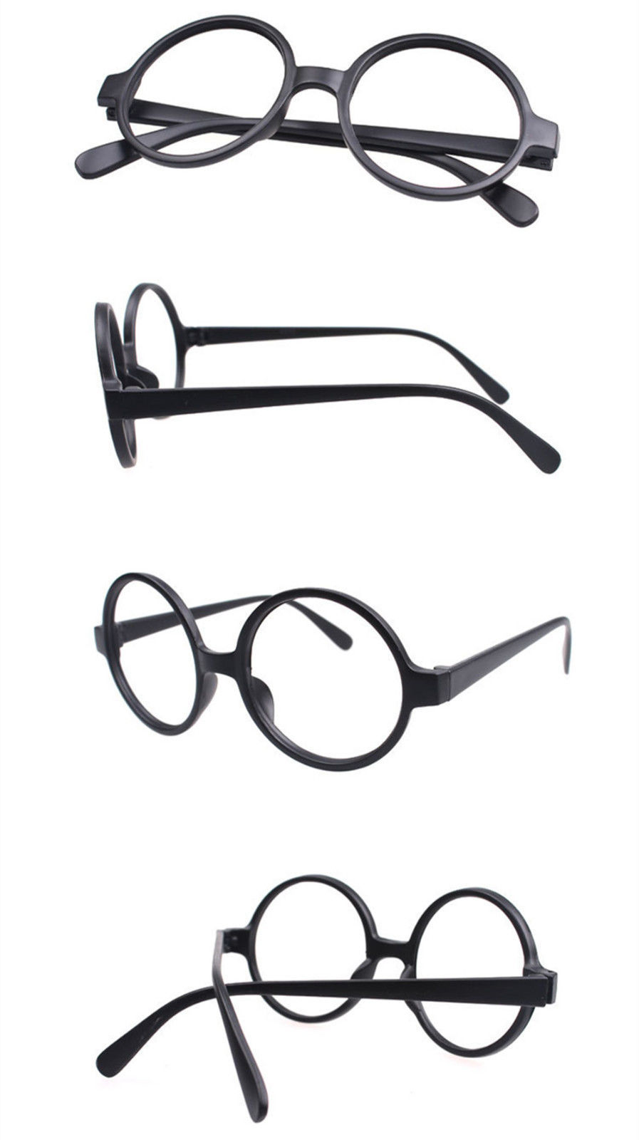 Classic Vintage Round Wizard Costume Nerdy Glasses Frames NO LENS Spectacle Wear image 13