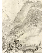 Marcus Adams - Early 20th Century Graphite Drawing, Swiss Landscape - $37.17