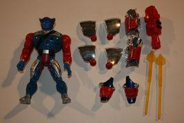 X-Men Toy Biz Heavy Metal Beast Marvel Figure 1996 Armor Complete Spiderman  - $22.99