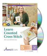 Learn Counted Cross Stitch Class DVD beginner instructional tutorial video  - $22.50
