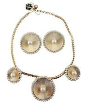 1950s Napier Faux-Pearl Necklace & Earrings Original Tags - €93,07 EUR
