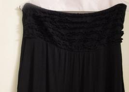 Swim' n Sport Solid Black Bandeau Maxi Dress Size: M