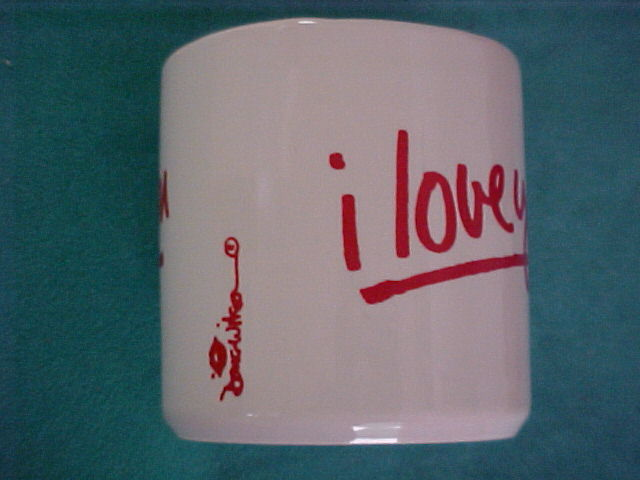 I LOVE YOU Doug Wilson Mug-Cup Grindley ENGLAND