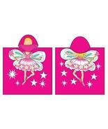 Fairy Hooded Beach Towel Kids Character Bath Costume Cotton Pool Cover U... - $14.99