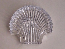 Signed Waterford cut  glass Hand Cut dish / tray shell - $19.94