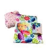 Disney Frozen Anna & Elsa Full Size 3 Pc Sheet Set Flat Fitted & 1 Pillowcase - $35.63