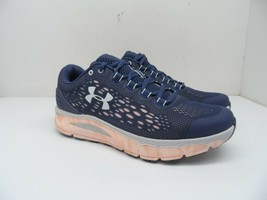 Under Armour Women's Charged Intake BG Running Shoe Blue Ink/Peach Frost 8M - $99.74