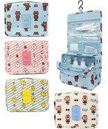 LINE Friends Toiletry Wash Pouch Hanging Travel Bag Makeup Shaving Hook ... - $52.98