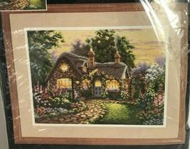 Dimensions Twilight Cottage Designer Lisa Burns Needlepoint 2441 Vtg 1996 Sealed - $59.39