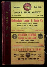 Polk's 1956 Bellefontaine Ohio City Directory With Classified & Buyers G... - $17.05