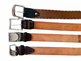 Lot 4 Martin Dingman Men Crocodile Hand Crafted USA Leather Belt 40 LEN Lizard image 4