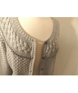 Women L XL 14 16 Cardigan Sweater Coat Jacket Button Knit Collar Career ... - $23.77