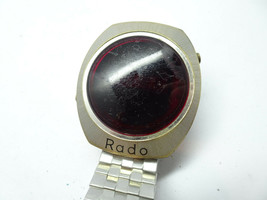 RADO VINTAGE RADO SWISS RED LED WATCH for restoration or parts only no l... - $217.69