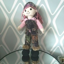 Kelly Toys Cabela's Wild Life Artists Plush Doll Pink Hair Camo Outfit - $9.89