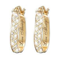 Fashion 18k Yellow Gold Plated Hoop Earrings Women Wedding Jewelry A Pai... - $10.99