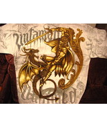 DRAGON AND WARRIOR FIGHTING UNTAMED T-SHIRT - $11.65