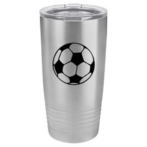 Tumbler 20oz 30oz Travel Mug Cup Vacuum Insulated Stainless Steel Soccer Ball - $24.99