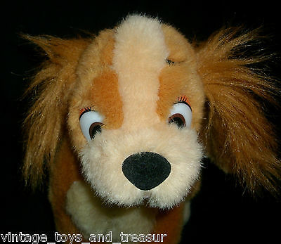 "11"" VINTAGE DISNEY LADY AND THE TRAMP MOVIE STUFFED ANIMAL PLUSH TOY DOG PUPPY"