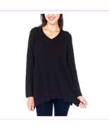 Beatrix Ost Women's Ribbed Knit Long Sleeve V-Neck Tunic Sweater, Size L... - $12.10