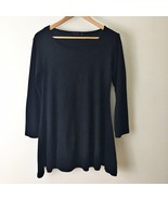 Black Long Sleeve Skater Dress Size L/XL By FCK Fit N' Flare - $26.13