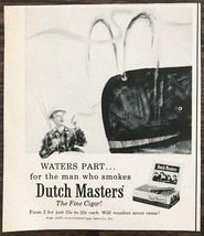 1957 Dutch Masters Cigars Print Ad Fisherman Waters Part for Man Who Smo... - $7.82