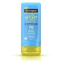 CoolDry Sport Sunscreen Lotion with Broad Spectrum SPF 70, Cooling Sweat-& Water - $15.42
