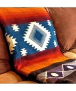 Extra Large Soft & Warm ALPACA Wool Blanket Andean Southwest Pattern 75x... - £69.02 GBP