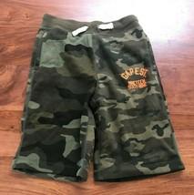 New Gap Kids Boys Drawstring Green Camouflage Knit Logo Cotton Knit Shorts 10 - $17.95